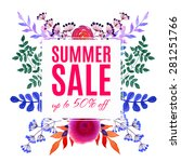 bright flower design for your... | Shutterstock .eps vector #281251766