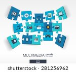 abstract multimedia background... | Shutterstock .eps vector #281256962