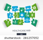 abstract medicine background... | Shutterstock .eps vector #281257052