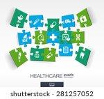 abstract medicine background... | Shutterstock .eps vector #281257052