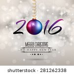 2016 new year and happy... | Shutterstock . vector #281262338