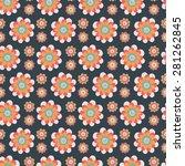 seamless floral pattern.... | Shutterstock .eps vector #281262845