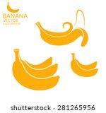 banana icon. eps10 vector  | Shutterstock .eps vector #281265956