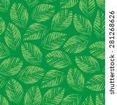 seamless texture of green...   Shutterstock . vector #281268626