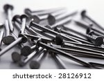 close up shot of nails on white. | Shutterstock . vector #28126912