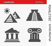 landmarks icons. professional ... | Shutterstock .eps vector #281278406