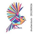 beautiful bird vector...   Shutterstock .eps vector #281280026