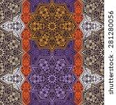 seamless pattern ethnic style.... | Shutterstock .eps vector #281280056