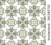 seamless geometric floral...   Shutterstock .eps vector #281285732