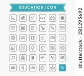 education outline icons | Shutterstock .eps vector #281295692