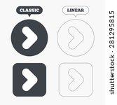 arrow sign icon. next button.... | Shutterstock .eps vector #281295815