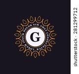 calligraphic monogram design...   Shutterstock .eps vector #281299712