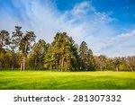 beautiful summer landscape with ... | Shutterstock . vector #281307332