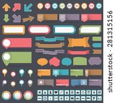 infographic elements collection ... | Shutterstock .eps vector #281315156