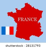 map of france | Shutterstock .eps vector #28131793