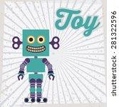 toys design over striped... | Shutterstock .eps vector #281322596