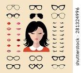 big vector set of dress up... | Shutterstock .eps vector #281324996