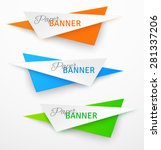 set of triangular colorful... | Shutterstock .eps vector #281337206