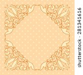 vintage pattern with decorative ... | Shutterstock .eps vector #281341616