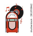 Music Old Design  Vector...