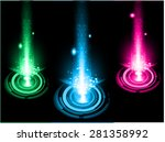 dark pink blue green light... | Shutterstock .eps vector #281358992