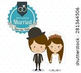 wedding design over white... | Shutterstock .eps vector #281364506
