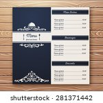 restaurant or cafe menu... | Shutterstock .eps vector #281371442