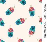 shop store   cartoon seamless... | Shutterstock .eps vector #281372006