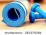 mats for fitness classes and... | Shutterstock . vector #281374286