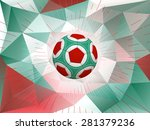 soccer ball with colors of...   Shutterstock . vector #281379236