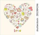 summer love. vector postcard. | Shutterstock .eps vector #281384246