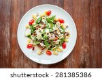 vegetable salad on the table. | Shutterstock . vector #281385386