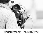 video camera operator working... | Shutterstock . vector #281389892