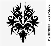 graphics tattoo design isolates ... | Shutterstock .eps vector #281392292