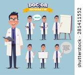 smart doctor presenting in... | Shutterstock .eps vector #281411552