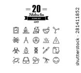 thin lines icons set of... | Shutterstock .eps vector #281411852