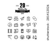 thin lines icons set of... | Shutterstock .eps vector #281412026
