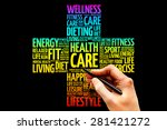 health care word cloud  health... | Shutterstock . vector #281421272