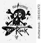 retro vintage badge or logotype ... | Shutterstock .eps vector #281431472