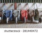 Six Old And Rusty Wheelbarrows...