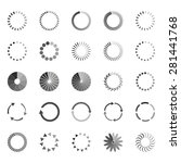 set of loading status icons ... | Shutterstock .eps vector #281441768