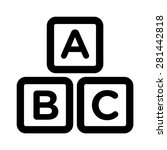 abc blocks   abc cubes child... | Shutterstock .eps vector #281442818