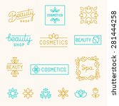 vector set of linear design... | Shutterstock .eps vector #281444258