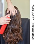 beauty  hairstyle and people... | Shutterstock . vector #281445842