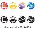 four different style of world... | Shutterstock .eps vector #28144993