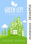 think green illustration of... | Shutterstock .eps vector #281463926