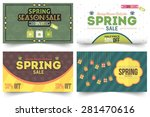 spring season sale vector... | Shutterstock .eps vector #281470616