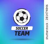 vintage soccer label | Shutterstock .eps vector #281474846