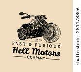 vector vintage motorcycle logo. ... | Shutterstock .eps vector #281478806