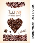 Vector Coffee Beans Background...